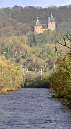 Castell Coch from the Iron Bridge (next to our Car Park)